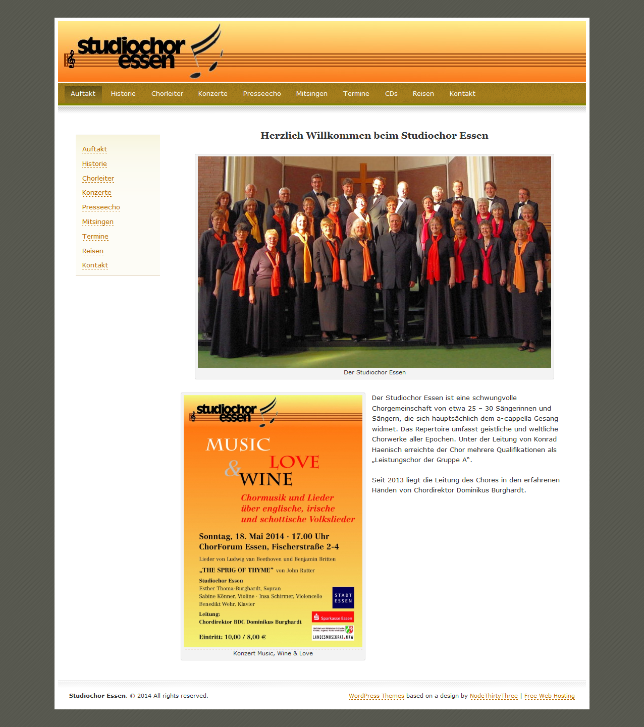 Das Design unserer Homepage wie es zuletzt bestand (2008 bis 20014)
